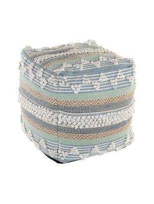 Puf Tomfy, Funda: algodón, Azul, beige, An 50 x Al 50 cm