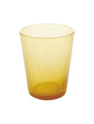 Mundgeblasene Wassergläser Cancun in Gelb, 6 Stück, Glas, mundgeblasen, Gelb, Ø 9 x H 10 cm