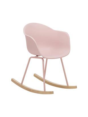 Schaukelstuhl Claire mit Holzkufen, Sitzschale: Kunststoff, Beine: Metall, pulverbeschichtet, Gestell: Buchenholz, Sitzschale: RosaBeine: RosaGestell: Buchenholz, B 61 x T 80 cm