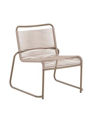 Stapelbare outdoor loungefauteuil Lido, Frame: gelakt aluminium, Taupe, B 64 x D 70 cm