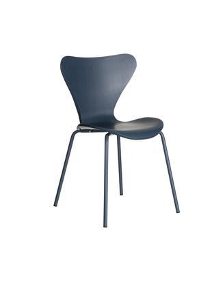 Krzesło z tworzywa sztucznego Pippi, 2 szt., Polipropylen, metal, Niebieski, S 50 x G 47 cm