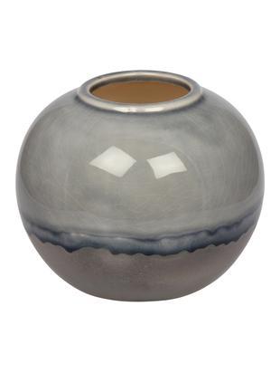 Vaas Rumble van keramiek, Keramiek, Grijstinten, blauw, Ø 15 x H 13 cm