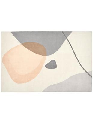 Tappeto in lana taftato a mano Luke, Vello: lana, Retro: cotone, Beige, grigio, albicocca, Larg. 120 x Lung. 180 cm (taglia S)