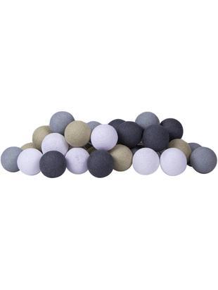 LED Lichterkette Colorain, Lampions: Polyester, Beige, Weiß, Grautöne, L 354 cm
