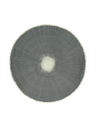 Tovaglietta americana rotonda Eclat 2 pz, Fibre di carta, Grigio, crema, Ø 38 cm