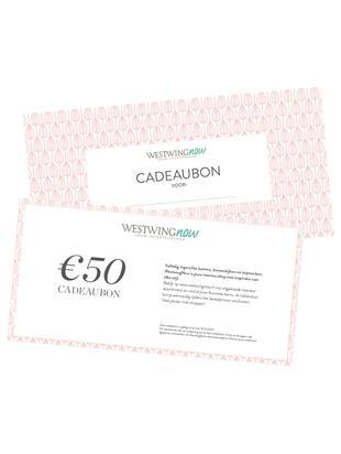 Cadeaubon, Cadeaubon op hoogwaardig papier, Wit, 50