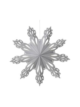 Ciondolo XL Snowflake, Carta, Argentato, Ø 30 cm