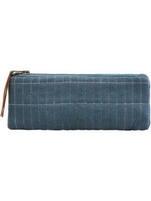 Astuccio Judy, Cotone, Blu, Larg. 24 x Alt. 8 cm