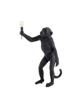Zewnętrzna lampa stołowa LED Monkey, Żywica syntetyczna, Czarny, S 46 x W 54 cm