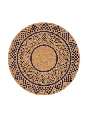 Podstawka z korka Arise, 2 szt., Korek, Korek, ciemny niebieski, Ø 20 cm