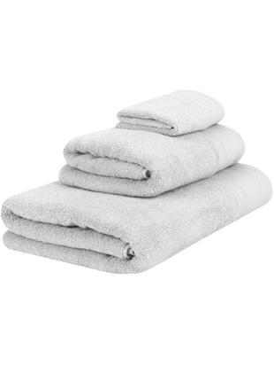Set asciugamani Premium, 3 pz., 100% cotone, qualità pesante 600g/m², Grigio chiaro, Diverse dimensioni