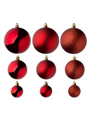 Weihnachtskugel-Set Silvia, 46-tlg., Kunststoff, Rot, Sondergrößen