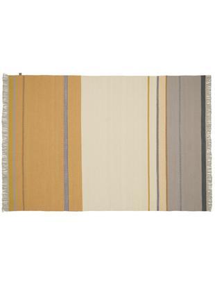 Ręcznie tkany dywan z wełny z frędzlami Metallum, Wielobarwny, S 140 x D 200 cm