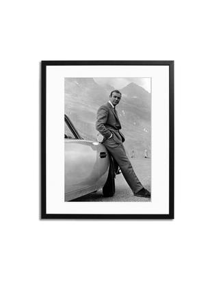 Oprawiona fotografia cyfrowa Connery, Stelaż: pleksi, lakierowane drewn, Czarny, biały, S 40 x W 50 cm