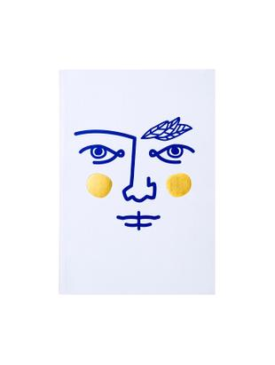 Taccuino Janus, 2 pz., Bianco, blu, dorato, Larg. 15 x Alt. 21 cm