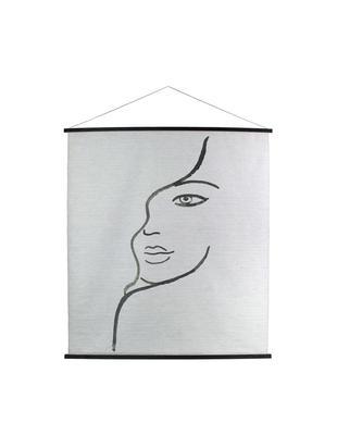 Dekoracja ścienna Juniper, Biały, czarny, S 140 x W 170 cm