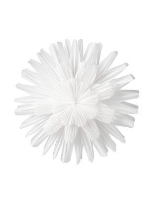 Decoración Snöblomma, Papel, Blanco, Ø 44 cm
