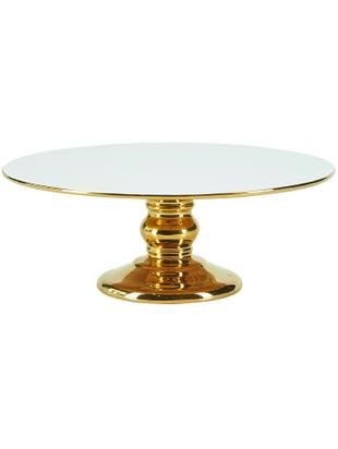Alzata per dolci Tarta, Ceramica, Bianco, dorato, Ø 26 x Alt. 10 cm
