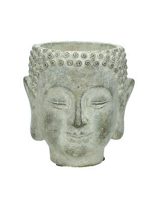 Osłonka na doniczkę Head, Beton, Szary, S 13 x W 14 cm