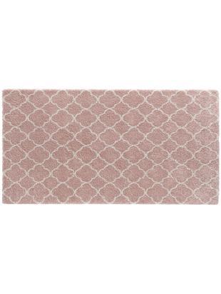 Hoogpolig vloerkleed Grace in roze crèmekleur, Bovenzijde: polypropyleen, Onderzijde: jute, Oudroze, crèmekleurig, B 80 x L 150 cm (maat XS)