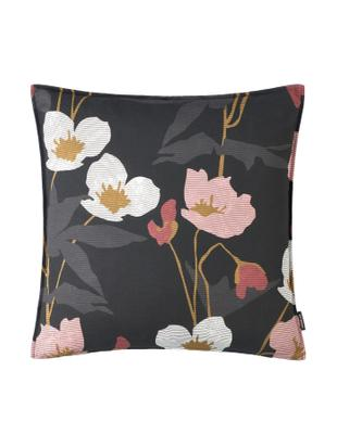 Poszewka na poduszkę Sveta, Bawełna, Czarny, blady różowy, beżowy, biały, S 40 x D 40 cm