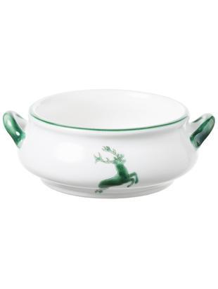 Miska Grüner Hirsch, Ceramika, Zielony, biały, 370 ml