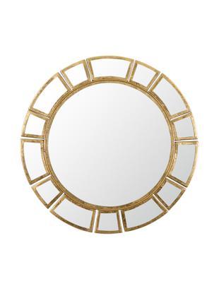 Runder Wandspiegel Amy mit Goldrahmen, Rahmen: Metall, Spiegelfläche: Spiegelglas, Goldfarben, Ø 78 x T 2 cm