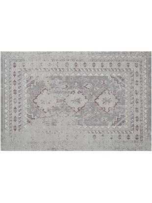 Vintage Chenilleteppich Rebel in Grau, Flor: 95% Baumwolle, 5% Polyest, Hellgrau, Creme, B 120 x L 180 cm (Größe S)