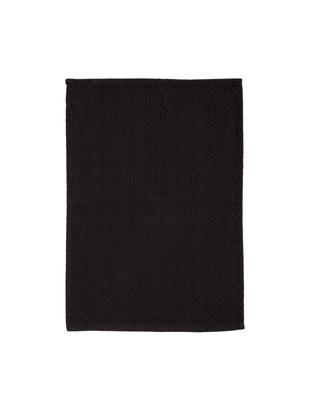 Canovaccio in nero lucido Celine, Tessuto: Jacquard, Nero, Larg. 50 x Lung. 70 cm