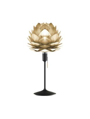 Lámpara de mesa grandeSilvia, Pantalla: polipropileno, policarbon, Estructura: acero, Cable: plástico, Latón, negro, Ø 32 x Al 67 cm