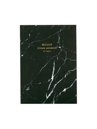 Taccuino Black Marble, Carta, Nero, L 11 x A 15 cm