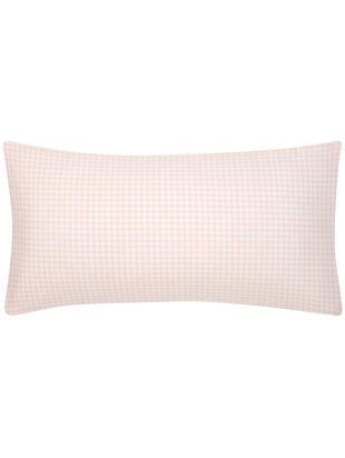 Poszewka na poduszkę z bawełny Scotty, 2 szt., Bawełna, Morelowy, biały, 40 x 80 cm