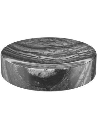 Mydelniczka z marmuru Teren, Marmur, Czarny, Ø 11 x W 3 cm