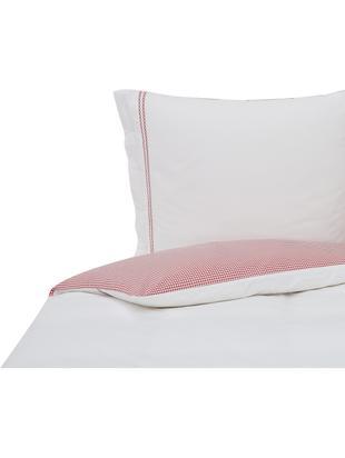 Pościel Oxford Check, Bawełna egipska Produkt posiada certyfikat Oeko-Tex Standard 100 , 1. klasy, Biały, blady różowy, 200 x 220 cm