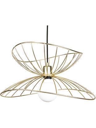 Lámpara de techo de diseño Ray, Pantalla: metal, latón, cepillado, Anclaje: metal pintado, Latón cepillado, Ø 45x Al 25 cm