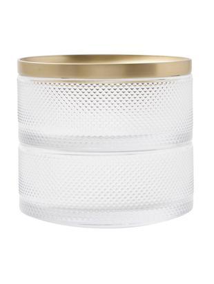 Szkatułka na biżuterię Tesora, Szkło, Odcienie złotego, transparentny, Ø 13 x W 11 cm