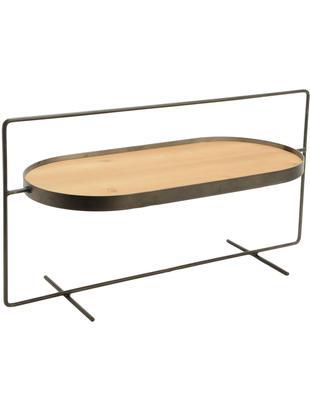 Bandeja decorativa Colgar, Estructura: metal, Bandeja: tablero de fibras de dens, Negro, beige, An 58 x Al 31 cm