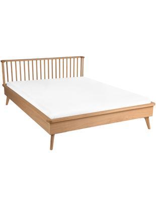 Łóżko z drewna Wild, Płyta pilśniowa (MDF), fornir z drewna dębowego, Drewno dębowe, 160 x 200 cm