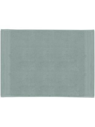 Alfombrilla de baño Premium, antideslizante, 100%algodón Gramaje superior 600g/m², Verde salvia, An 50 x L 70 cm