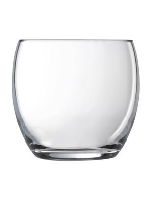 Vasos de agua Salto, 6 uds., Vidrio, Transparente, 350 ml