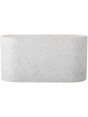 Osłonka na donicę Liam, Beton, lastriko, Biały, odcienie brązowego, S 40 x W 20 cm