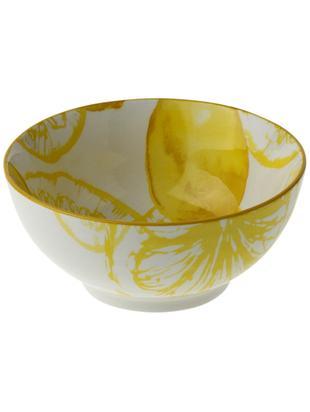 Schälchen Lemon, porzellan, Weiss, Gelb, Ø 14 x H 7 cm