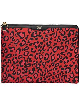Cover per iPad Air Red Leopard, Custodia: raso di cotone, Rosso, nero, Larg. 24 x Alt. 17 cm