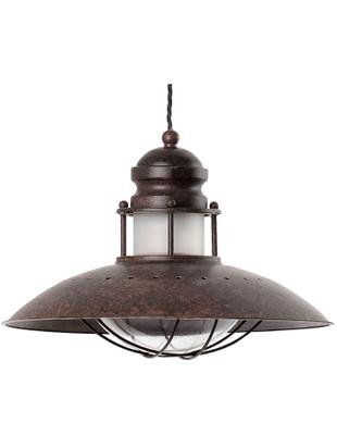 Lámpara de techo Winch, Estructura: hierro, Rojo óxido, Ø 35 x Al 26 cm