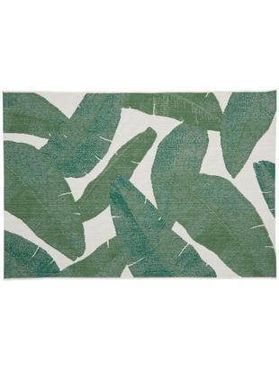 Tappeto da interno-esterno Jungle, Retro: poliestere, Bianco crema, verde, Larg.160 x Lung. 230 cm  (taglia M)