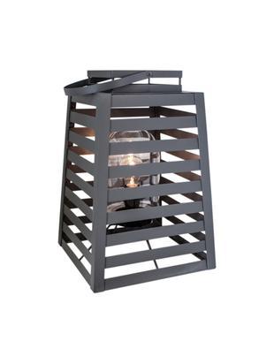 Zewnętrzna lampa podłogowa Yankton, Szary, S 30 x W 60 cm