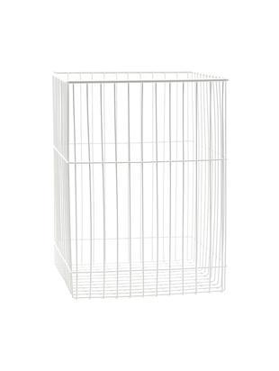 Papierkorb Stak, Metall, Weiß, 24 x 32 cm