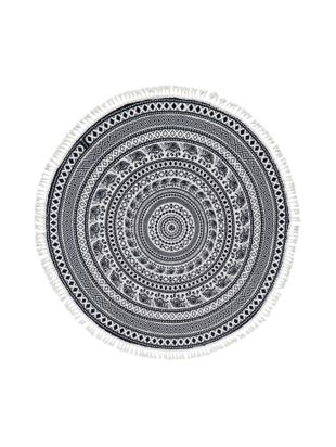 Telo mare Goa, Nero, bianco, Ø 150 cm