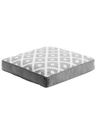Cuscino sedia Maya, Rivestimento: 100% cotone, Grigio chiaro, bianco crema, Larg. 40 x Lung. 40 cm