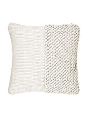Kissenhülle Andi, 80% Acryl, 20% Baumwolle, Cremeweiß, 40 x 40 cm